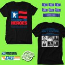 CONCERT 2018 STAND UP FOR HEROES SHOW BLACK TEE DATES CODE EP01