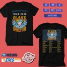 CONCERT 2019 BLAKE SHELTON FRIENDS AND HEROES TOUR BLACK TEE DATES CODE EP02
