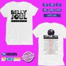 CONCERT 2019 BILLY JOEL USA TOUR WHITE TEE DATES CODE EP01