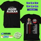CONCERT 2019 JASON ALDEAN RIDE ALL NIGHT TOUR BLACK TEE DATES CODE EP01