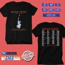 CONCERT 2019 BRYAN FERRY WORLD TOUR BLACK TEE DATES CODE EP02