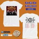 CONCERT 2019 TESLA SHOCK USA TOUR WHITE TEE DATES CODE EP01