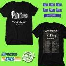 CONCERT 2019 PIXIES AND WEEZER SPRING TOUR BLACK TEE DATES CODE EP01