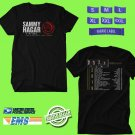CONCERT 2019 SAMMY HAGAR FULL CIRCLE JAM TOUR BLACK TEE DATES CODE EP01