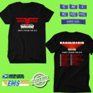 CONCERT 2019 RAMMSTEIN EUROPE STADIUM TOUR BLACK TEE DATES CODE EP01