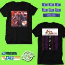 CONCERT 2019 JONAS BROTHERS HAPPINESS BEGINS TOUR BLACK TEE DATES CODE EP01