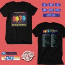 CONCERT 2019 SHINEDOWN ATTENTION ATTENTION SUMMER BLACK TEE DATES CODE EP01