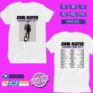 CONCERT 2019 JOHN MAYER SUMMER N.AMERICA WHITE TEE DATES CODE EP02