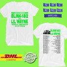 CONCERT 2019 BLINK-182 AND LIL WAYNE N.AMERICA WHITE TEE DATES CODE EP01