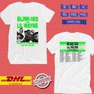 CONCERT 2019 BLINK-182 AND LIL WAYNE N.AMERICA WHITE TEE DATES CODE EP02