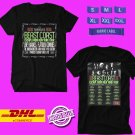 CONCERT 2019 BEAST COAST ESCAPE FROM NEW YORK TOUR BLACK TEE DATES CODE EP02
