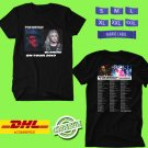 CONCERT 2019 ELVIS COSTELLO & THE IMPOSTERS W BLONDIE TOUR BLACK TEE DATES CODE EP01