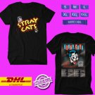 CONCERT 2019 THE STRAY CATS 40TH ANNIVERSARY WORLD TOUR BLACK TEE DATES CODE EP01