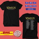 CONCERT 2019  SQUEEZE THE SQUEEZE SONGBOOK TOUR BLACK TEE DATES CODE EP01
