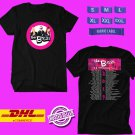 CONCERT 2019 THE B-52s 40TH ANNIVERSARY N.AMERICA TOUR BLACK TEE DATES CODE EP02