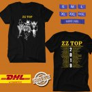 CONCERT 2019  ZZ TOP CELEBRATING THEIR 50TH ANNIVERSARY TOUR BLACK TEE DATES CODE EP01