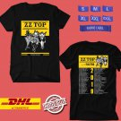 CONCERT 2019  ZZ TOP CELEBRATING THEIR 50TH ANNIVERSARY TOUR BLACK TEE DATES CODE EP02