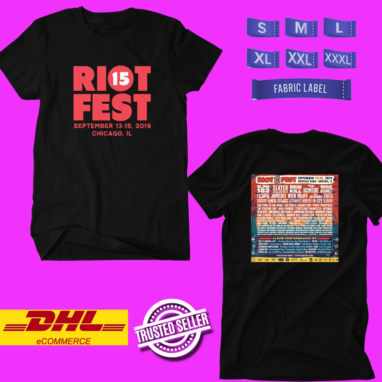FESTIVAL 2019 RIOT BLACK TEE LINEUP CODE EP02