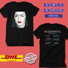 CONCERT 2020 MADONNA MADAME X WORLD TOUR BLACK TEE LINEUP CODE EP02