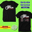 CONCERT 2019 ERIC CLAPTON TOUR BLACK TEE LINEUP CODE EP01