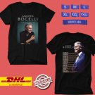 TOUR 2019-2020 ANDREA BOCELLI IN CONCERT WORLD BLACK TEE W LINEUP CODE EP01