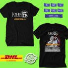 TOUR 2019 JOHN5 AND THE CREATURES INVASION N.AMERICAN BLACK TEE W LINEUP CODE EP01