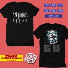 TOUR 2019 IN FLAMES FALL N.AMERICAN TOUR BLACK TEE W LINEUP CODE EP01