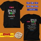 FESTIVAL 2019 Z100 NEW YORK JINGLE BALL MUSIC FESTIVAL BLACK TEE W LINEUP CODE EP01