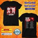 TOUR 2020 BON JOVI WITH BRYAN ADAMS N.AMERICAN BLACK TEE W LINEUP CODE EP02