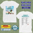 TOUR 2020 JIMMY BUFFETT SLACK TIDE USA WHITE TEE W DATES CODE EP01