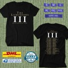 TOUR 2020 THE LUMINEERS IN CONCERT BLACK TEE W DATES CODE EP01