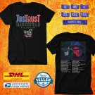 TOUR 2020 ELVIS COSTELLO JUST TRUST UNITED KINGDOM BLACK TEE W DATES CODE EP01