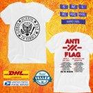 TOUR 2020 ANTI FLAG 20/20 VISION TOUR WHITE T SHIRT W DATES CODE EP02