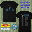 TOUR 2020 CHER HERE WE GO AGAIN NEW DATES BLACK T SHIRT W DATES CODE EP02