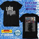 TOUR 2020 LUKE BRYAN PROUD TO BE RIGHT HERE NEW DATES BLACK TEE W DATES CODE EP01