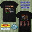 TOUR 2021 MOTLEY CRUE DEF LEPPARD THE STADIUM TOUR BLACK TEE SHIRT W DATES CODE EP02