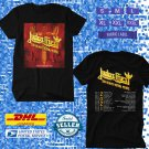 TOUR 2021 JUDAS PRIEST 50 HEAVY METAL YEARS N.AMERICAN TOUR BLACK TEE SHIRT W DATES CODE EP02
