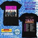 TOUR 2021 SILVERSTEIN 20TH ANNIVERSARY N.AMERICAN TOUR BLACK TEE SHIRT W DATES CODE EP02
