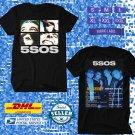 TOUR 2021 5SOS SECONDS OF SUMMER NO SHAME AUSTRALIA TOUR BLACK TEE SHIRT W DATES CODE EP02