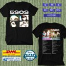 TOUR 2021 5SOS SECONDS OF SUMMER NO SHAME N.AMERICAN TOUR BLACK TEE SHIRT W DATES CODE EP01