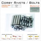 Knife Mounting Hardware Corby Rivets 12 Steel 5/16 Rivets 4 Lanyard Tube Knife Making Supply