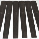 6 Gabon Ebony 4/4 Violin Fingerboards High Graded Violin Viola Musical Lumber