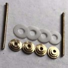 Hardware For Straight Razor Making Supply 4 Brass Collars 2 Brass Pins 4 Washers