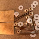 Straight Razor Making Hardware 2 Brass Wedges 12 Collars 8 Brass Pins 12 Washers