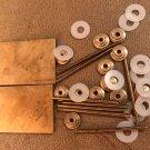 Straight Razor Making Hardware 2 Brass Wedges 12 Collars 8 Brass Pins 12 Washers