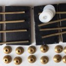 Straight Razor Scales Hardware 12 Solid Brass Collars 8 Pins 12 Washers 4 Wedges
