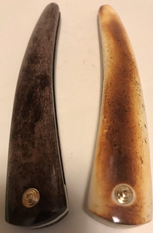 2 Camel Bone Razor Scales Bone Spacers Brass HDWR Dovo Puma Razor Making Parts