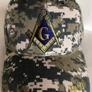 Freemason's Baseball Cap US Marine Camouflage Hat Mason Text Compass Icon Unisex