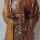 Indonesian Carved Buddha Hardwood Statue For Zen Meditation Hand Sculpted Buddha