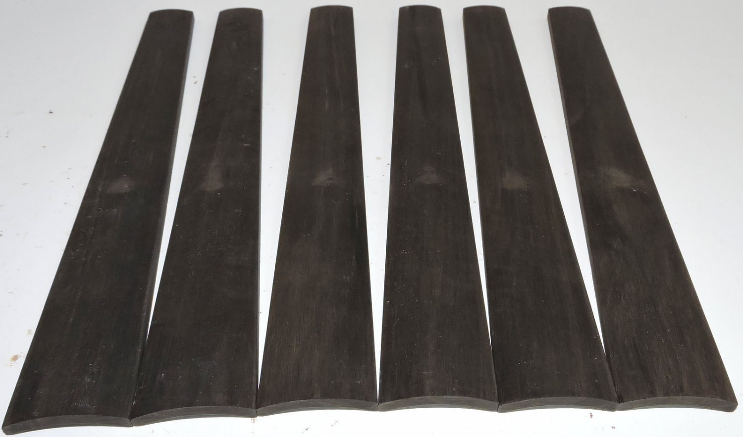 6 Gabon Ebony 4/4 Violin Fingerboards High Graded Violin Viola Musical Timber